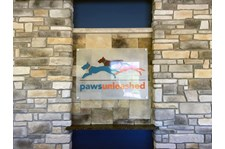 Acrylic sign with graphics and standoffs for Paws Unleashed Woodbury, MN